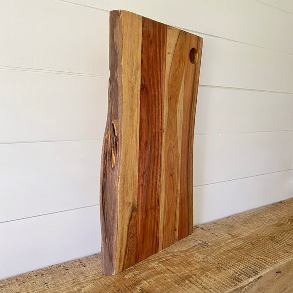 Thick Wood Serving Board with Live Edge - Engraved - SageSignCo