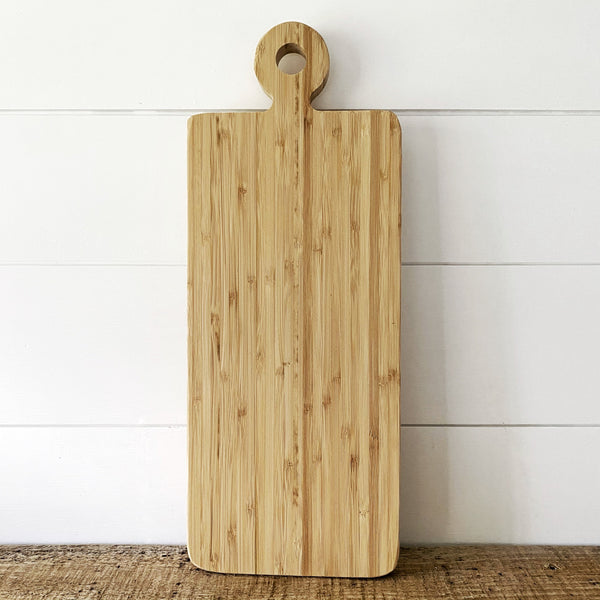 "15.5"" Bamboo Cutting Board - Engraved - SageSignCo"