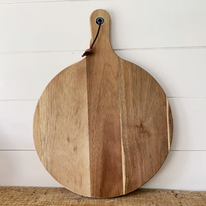 "13.5"" Round Wood Serving Board - Engraved - SageSignCo"