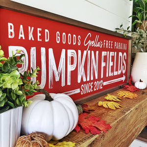 Personalized Printed Pumpkin Farm Road Sign - SageSignCo