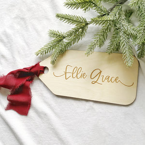 Wooden Personalized Gift Tags - Engraved
