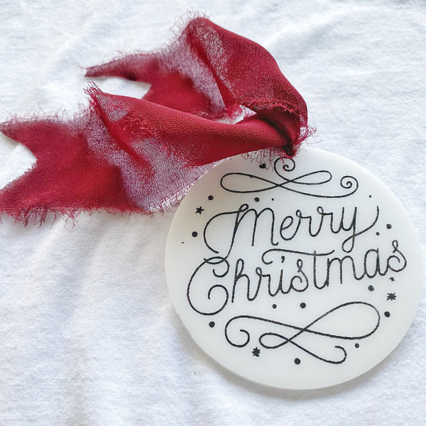 Whimsical Merry Christmas Ornament