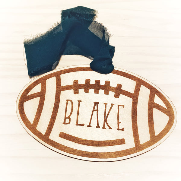 Wooden Personalized Sports Ornament - Multiple Sports