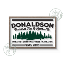 "Load image into Gallery viewer, 30"" x 20"" Lasercut Personalized Tree Farm - Flash Sale"