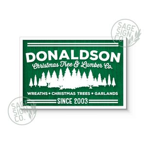 "30"" x 20"" Lasercut Personalized Tree Farm - Flash Sale"