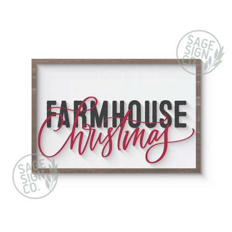 Farmhouse Christmas (Inlayed Layers)