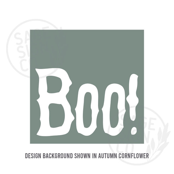 Printed Hair-Raising BOO! - SageSignCo
