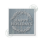 Happy Holidays Wreath - Various Color Choices - Flash Sale