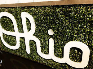 "Cursive Ohio Spotlight Sign  -  10"" x 20"" with FREE SHIPPING!"