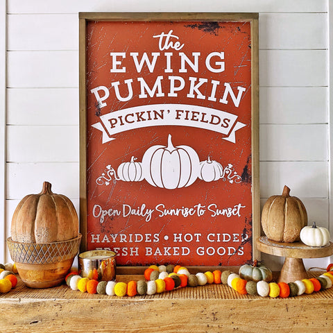 Personalized Printed Pumpkin Pickin' Fields - SageSignCo