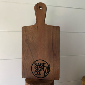 VIP Petite Serving Board - Engraved - SageSignCo