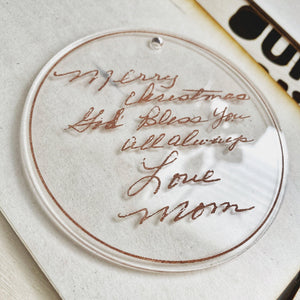 Custom Handwriting Memento Ornament