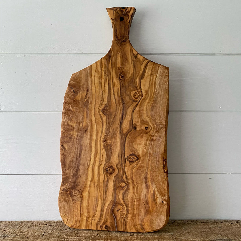 Organic Shape Olive Serving Board - Engraved