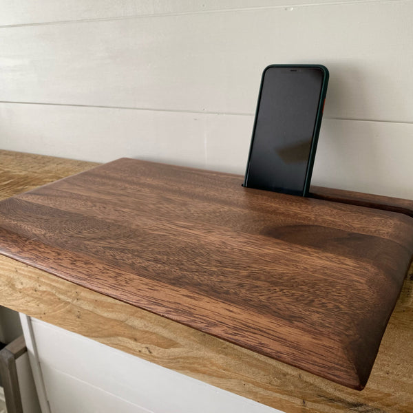 Cutting Board with Juice Canal and Phone Slot - Engraved - Black Friday