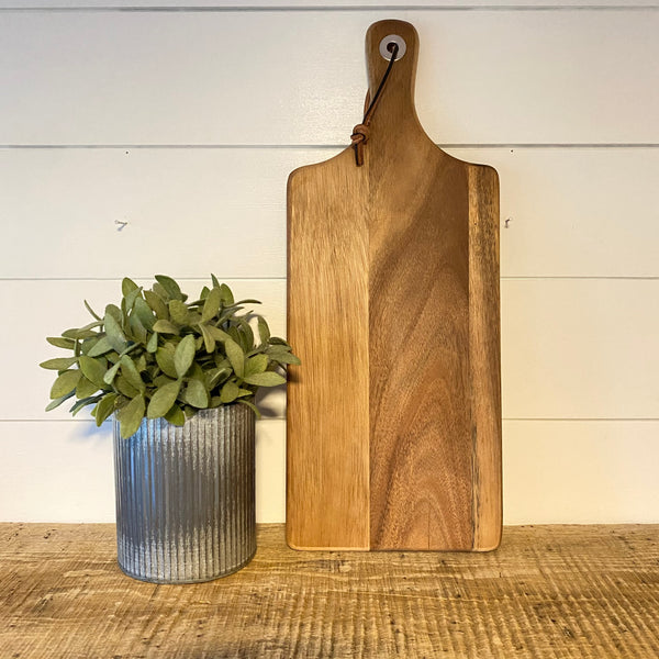 Sicilian Style Acacia Serving Board - Engraved