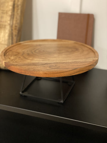 Wood Cake Stand - Engraved