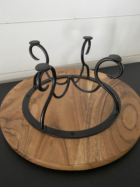 Cake Stand with Detailed Legs - Engraved