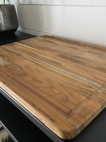 Teak Cutting Board with Juice Canal - Engraved