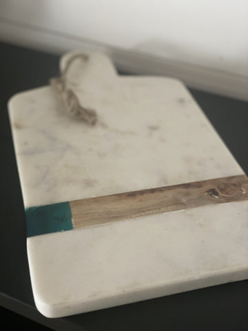 Marble + Wood Serving Board - Engraved