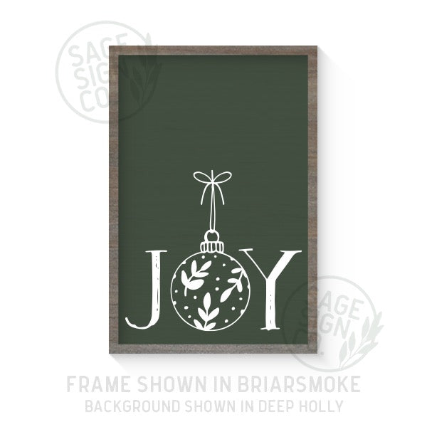 Joy Ornament - Printed