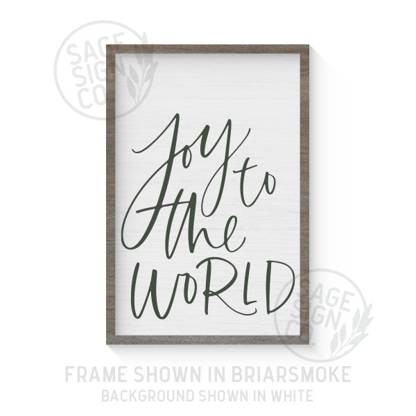 Joy To The World Handscript - Printed