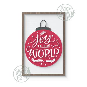 Joy to the World Ornament