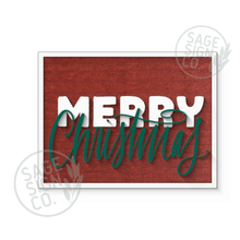 Load image into Gallery viewer, Merry Christmas Inset Script