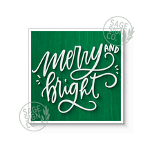 Load image into Gallery viewer, Merry and Bright Script