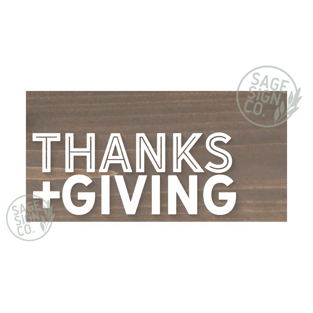 Modern Thanks + Giving Plank - Briarsmoke - Flash Sale