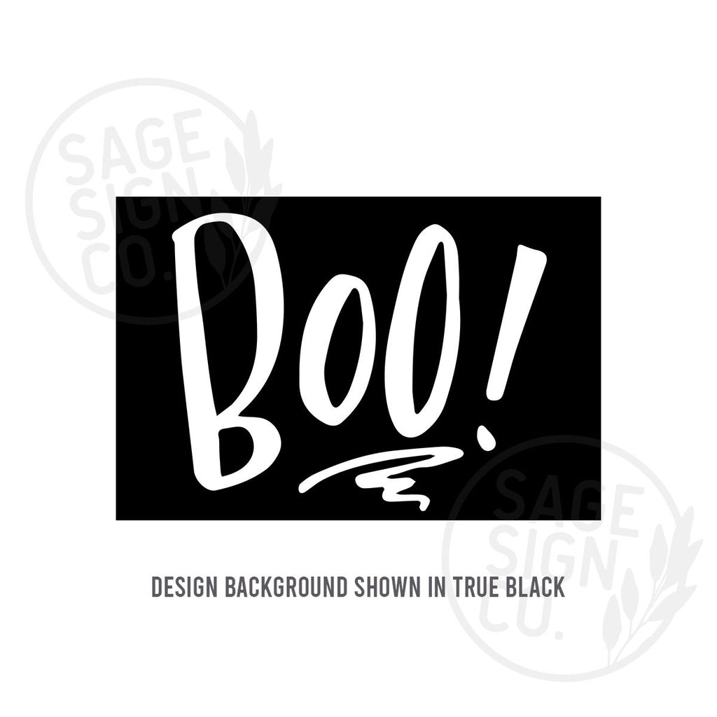 Printed Not So Scary BOO! - SageSignCo
