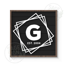 Load image into Gallery viewer, Personalized Offset Squares Name Monogram