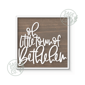 Oh Little Town of Bethlehem - Various Color Choices - Flash Sale