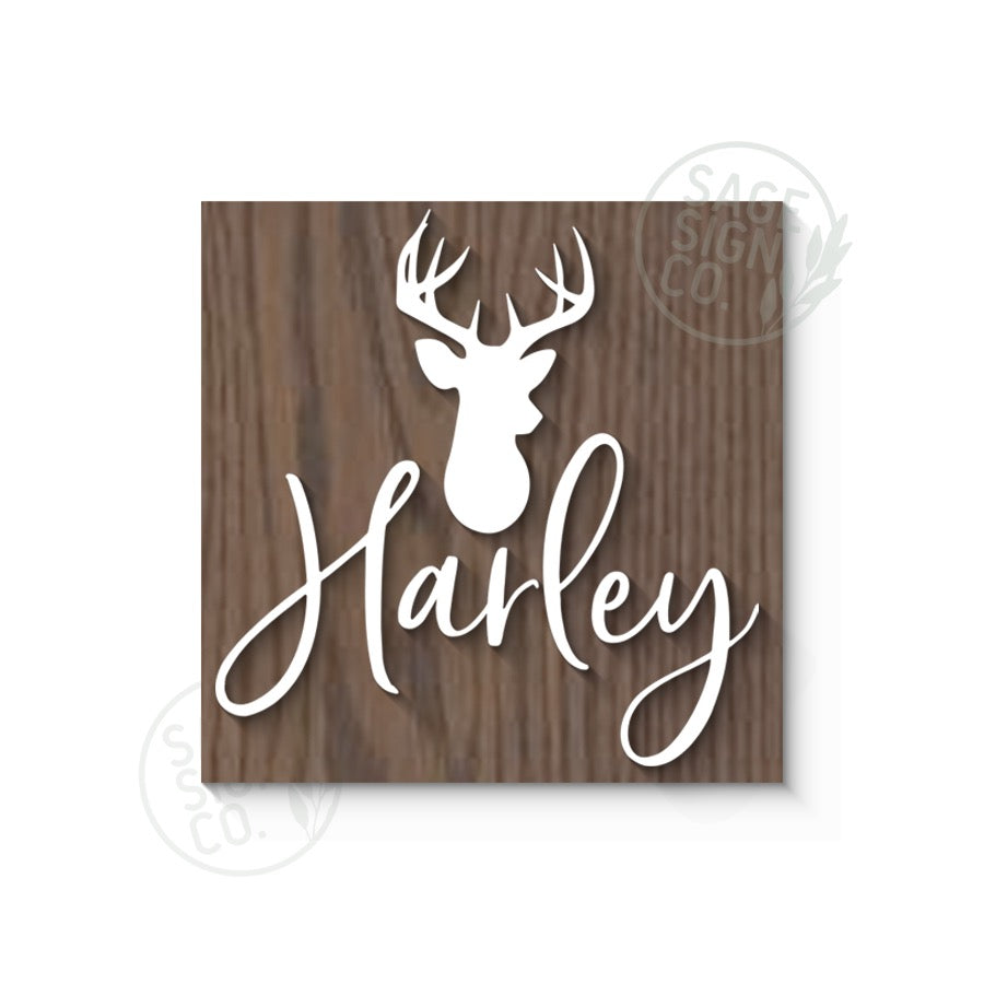 CUSTOMIZE IT !  Square Nursery Sign with Icon(s) - First Name - SageSignCo