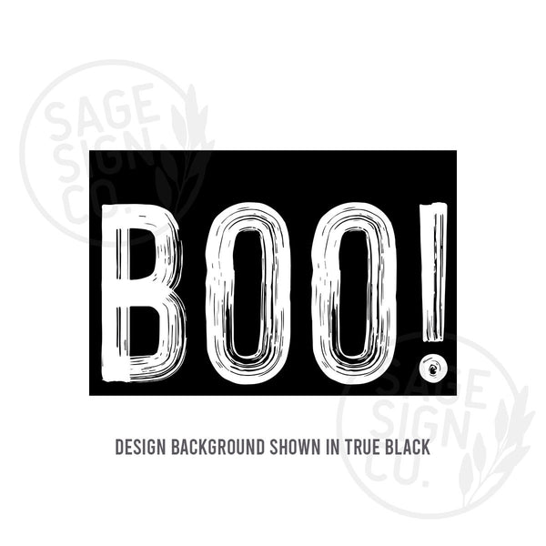 Printed Oversized BOO! - SageSignCo