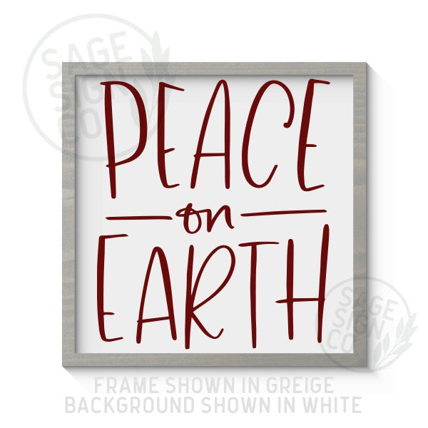 Peace On Earth - Printed