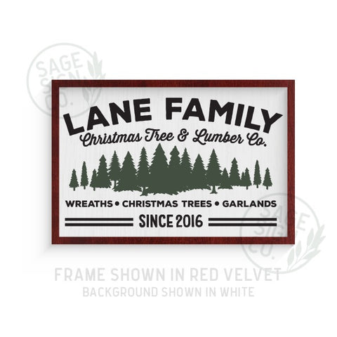 Personalized Tree Lot Sign - Printed