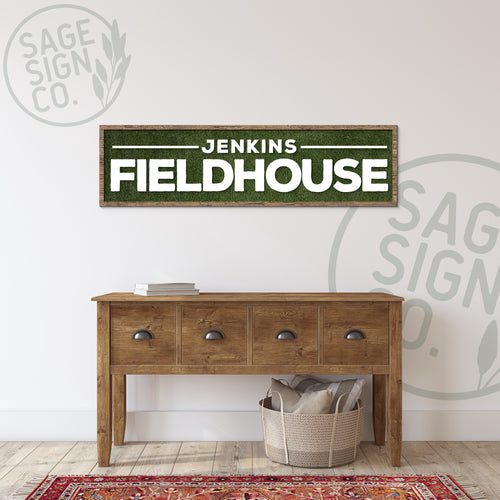 Personalized Fieldhouse Plank