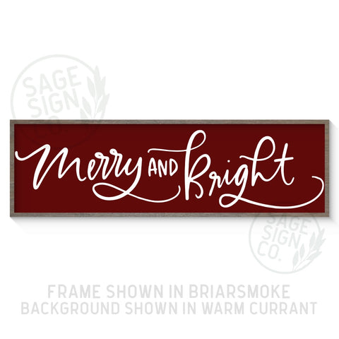 Plank Style Merry And Bright - Printed