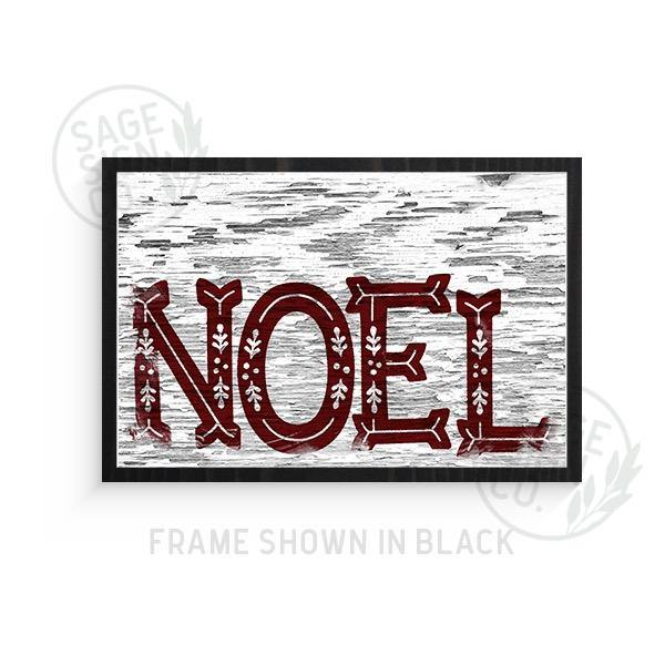 Chippy NOEL Sign - Printed