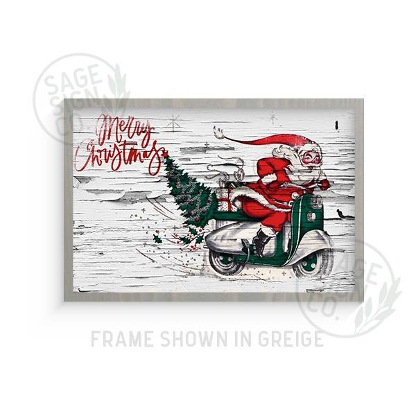 Chippy Santa on Scooter - Printed - SageSignCo