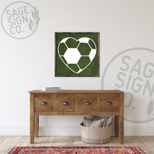 Load image into Gallery viewer, Personalized Soccer Heart with Number