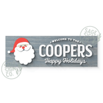 Lasercut Personalized Santa Welcome Plank (With Or Without Frame)
