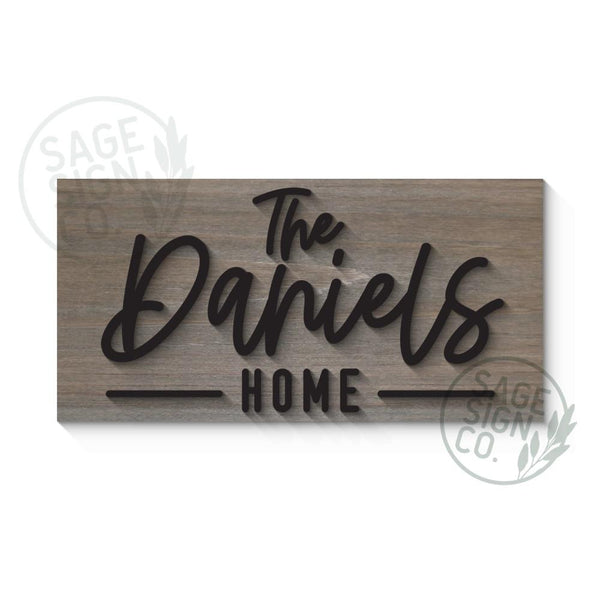 VIP Last Name Home Sign - Sophisticated Farmhouse Style - SageSignCo