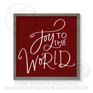 Joy To The World - Printed