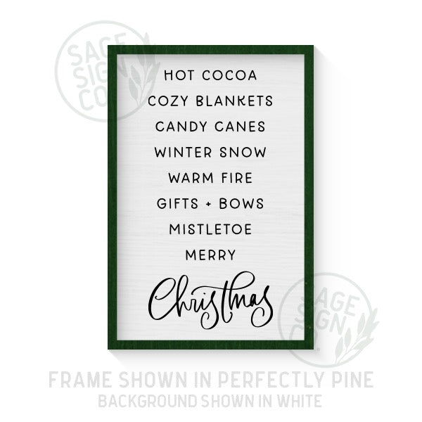Things We Love About Christmas - Printed