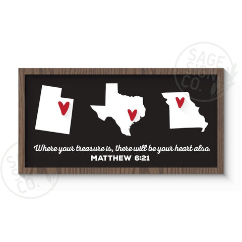 Personalized Hearts Across Multiple States
