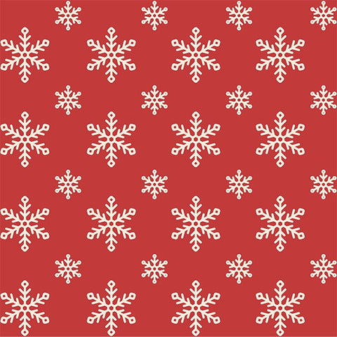Framed Layering Print Retro Snowflake Wrapping Paper - Printed
