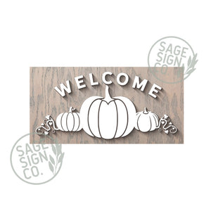 Welcome Pumpkins - Frameless Slab