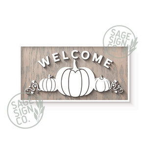 Welcome Pumpkins - Framed