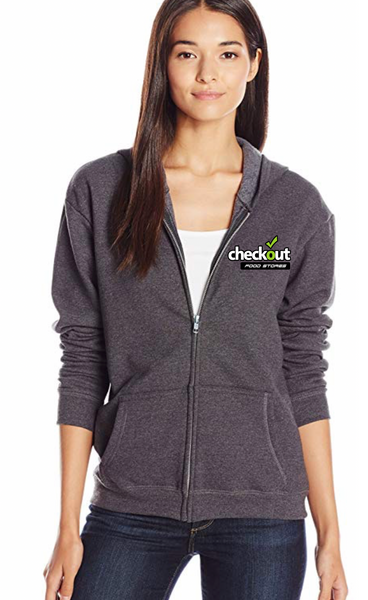 Custom Hanes Women's Full-Zip Hooded Jacket